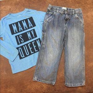 Boys Children Place LS shirt & jeans